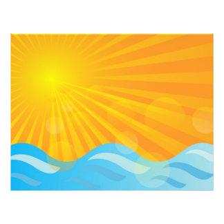 Hot Summer Background 21.5 Cm X 28 Cm Flyer