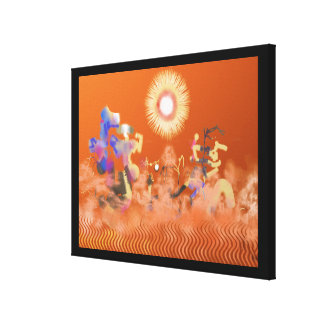 Hot Summer Day Gallery Wrapped Canvas