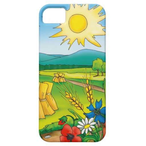 Hot Summer Day In The Countryside iPhone 5 Case