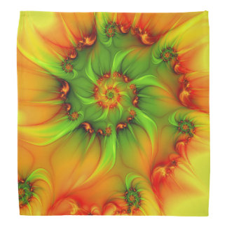 Hot Summer Green Orange Abstract Colorful Fractal Do-rags