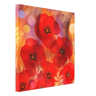 Hot summer poppies canvas print