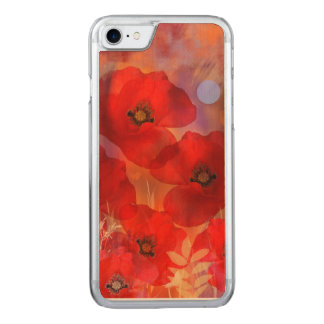 Hot summer poppies carved iPhone 8/7 case