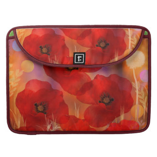 Hot summer poppies sleeve for MacBook pro