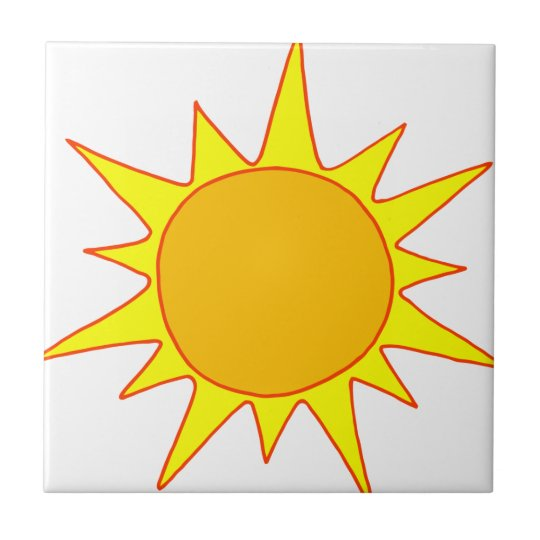 Hot Sun Cartoon Tile
