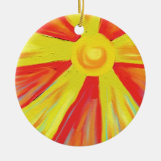 Hot Sun Rays Christmas Ornament