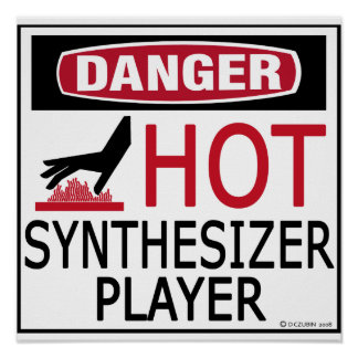 Hot Synthesizer Player Poster