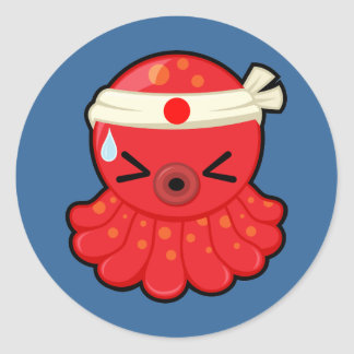 Hot Tako Round Sticker