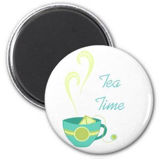 Hot Tea 6 Cm Round Magnet