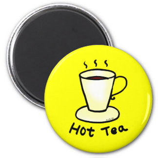Hot tea refrigerator magnets