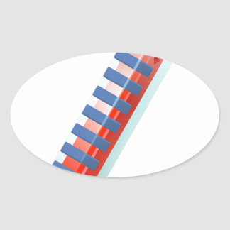 Hot Thermometer Bursting Icon Oval Sticker