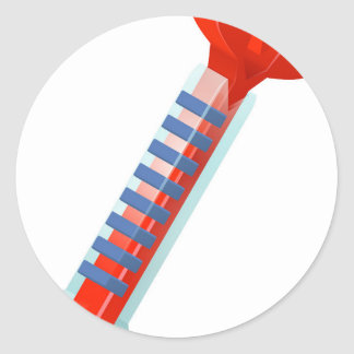 Hot Thermometer Bursting Icon Round Sticker