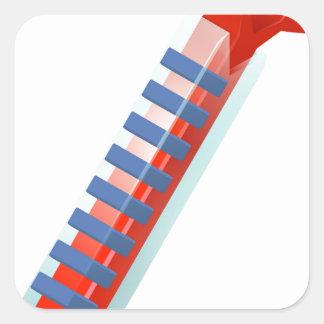 Hot Thermometer Bursting Icon Square Sticker