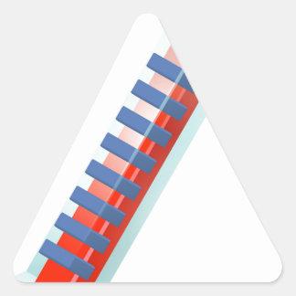 Hot Thermometer Bursting Icon Triangle Sticker