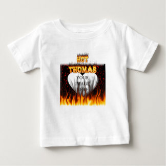 Hot Thomas fire and flames red marble T-shirt