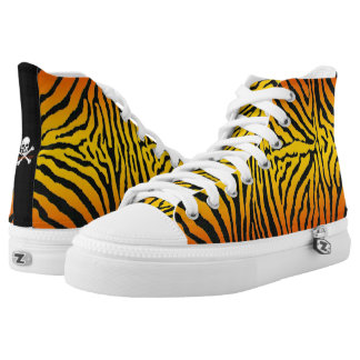 Hot Tiger High Tops! Printed Shoes