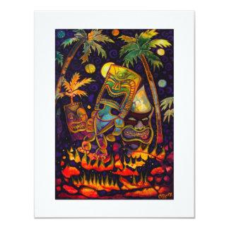 Hot Tiki Lava Invitations