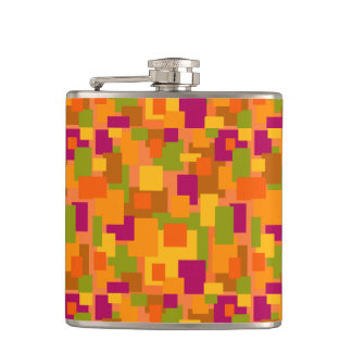 Hot toddy? Flask with Autumn Patch 2 Abstract Art