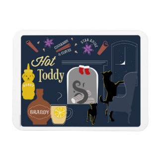 Hot Toddy Winter Cocktail Magnet
