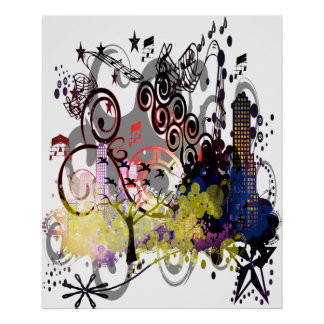 Hot Town Grunge in the City Print