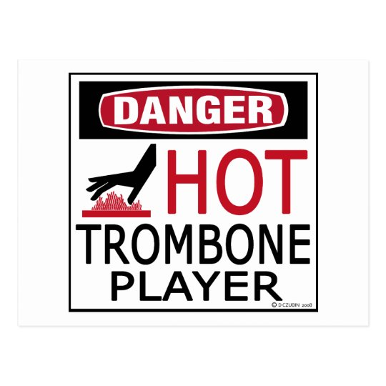 Hot Trombone Player Postcard