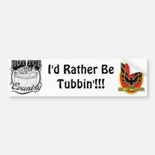 Hot Tub Country Bumper Sticker