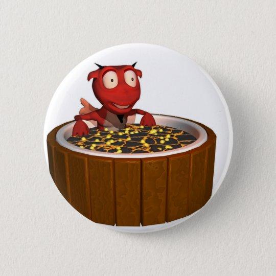 Hot Tub Demon 6 Cm Round Badge