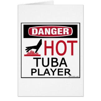 Hot Tuba Player Card