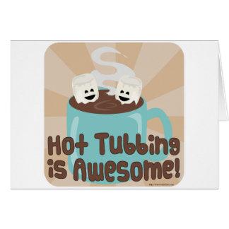 Hot Tubbing Marshmallows Card