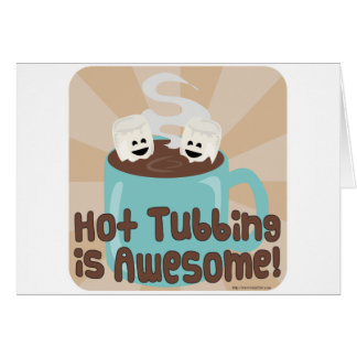 Hot Tubbing Marshmallows Greeting Card