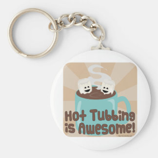 Hot Tubbing Marshmallows Key Ring