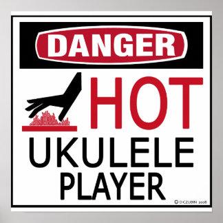 Hot Ukulele Player Poster