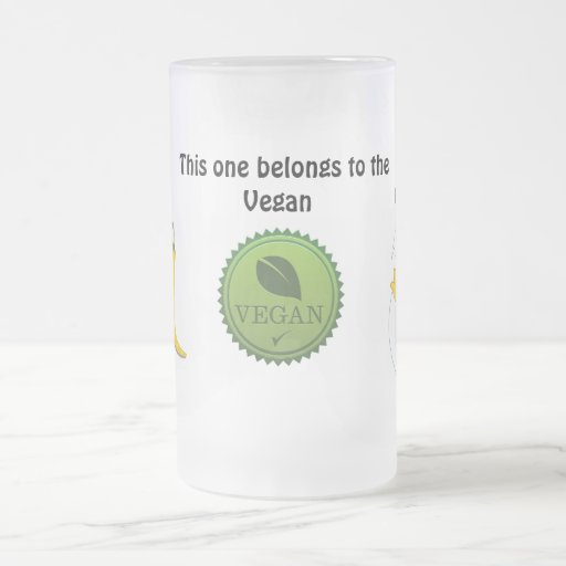 Hot Vegan Chick Frosted Glass Mug