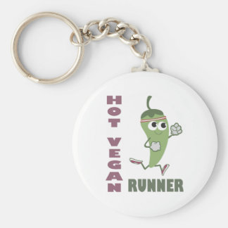 Hot Vegan Runner Basic Round Button Key Ring