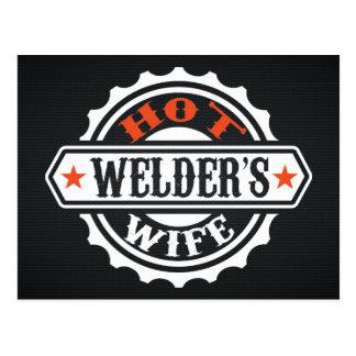 Hot Welder's Wife Postcard