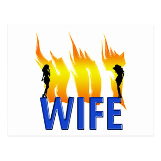 Hot Wife and Flames Postcard