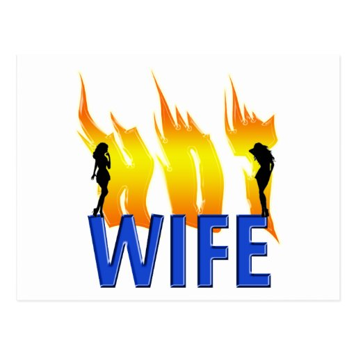 Hot Wife and Flames Postcards