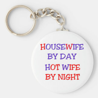 Hot Wife Basic Round Button Key Ring