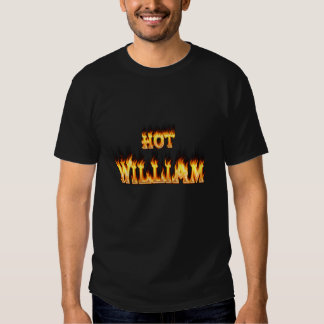 Hot William fire and flames red marble Shirts