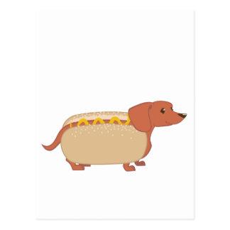 Hotdog Dog Postcard