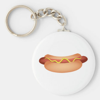 Hotdog Key Ring