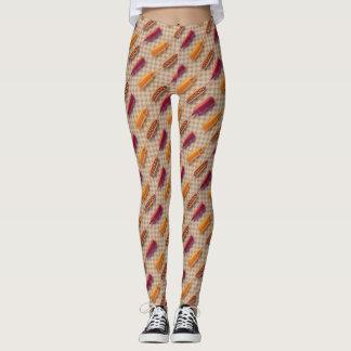 Hotdog Mustard and Ketchup Pattern Leggings
