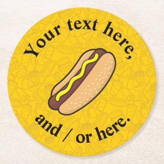Hotdog Round Paper Coaster