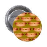Hotdog Wallpaper Pinback Buttons
