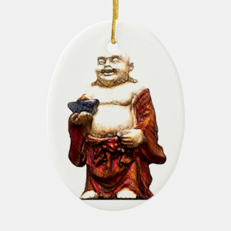 Hotei Laughing Buddha Christmas Ornament