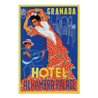 Hotel Alhambra Palace Granada Poster