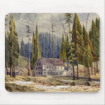 Hotel at the Grove of Mamoth Trees Mouse Mat