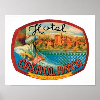 Hotel Casablanca Poster