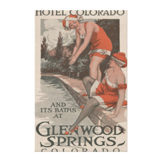 Hotel Colorado & Baths Poster Canvas Print