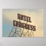 Hotel Congress Retro Wall Art Sign