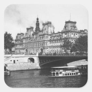 Hotel de Ville, 1882 Square Sticker